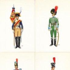 Postales: (13) COLECCION DE 12 POSTALES UNIFORMES MILITARES.. Lote 244833615
