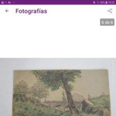 Postales: ANTIGUA POSTAL -DIBUJO A COLOR PAISAJE FIRMADO A.VIÑOLA. Lote 245084660
