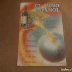 Postales: ANTIGUA POSTAL EL VINO ESPAÑOL - NO CIRCULADA - ED. PRESIDENCIA DE GOBIERNO.. Lote 245125350