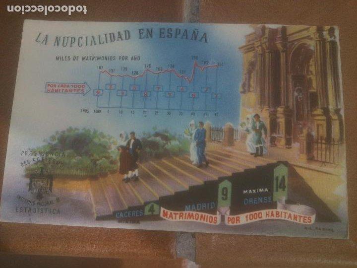 ANTIGUA POSTAL LA NUPCIALIDAD EN ESPAÑA - NO CIRCULADA - ED. PRESIDENCIA DE GOBIERNO. (Postales - España - Sin Clasificar Moderna (desde 1.940))