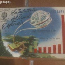Postales: ANTIGUA POSTAL LA INDUSTRIA DEL PAPEL EN ESPAÑA - NO CIRCULADA - ED. PRESIDENCIA DE GOBIERNO.. Lote 245126350