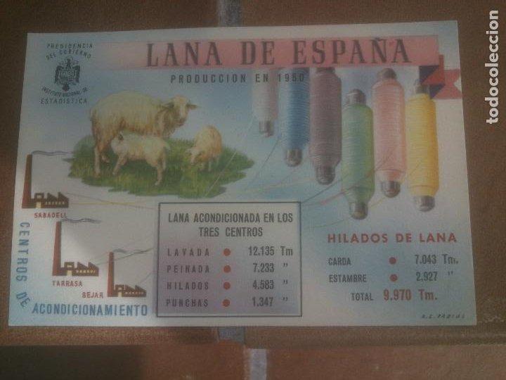 ANTIGUA POSTAL LANA DE ESPAÑA - NO CIRCULADA - ED. PRESIDENCIA DE GOBIERNO. (Postales - España - Sin Clasificar Moderna (desde 1.940))