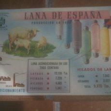 Postales: ANTIGUA POSTAL LANA DE ESPAÑA - NO CIRCULADA - ED. PRESIDENCIA DE GOBIERNO.. Lote 245126595