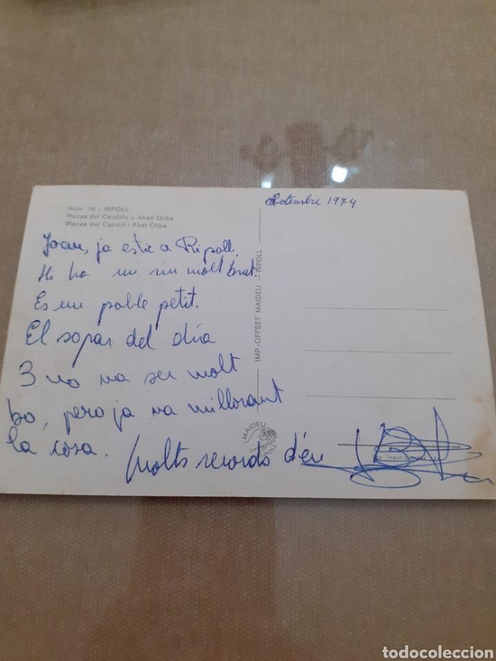Postales: Antigua postal RIPOLL plaza del caudillo abad olibe - Foto 2 - 245400445