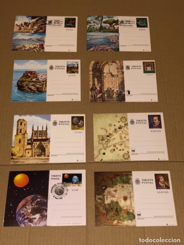8 TARJETAS POSTALES DE ESPAÑA, 2 DE ELLAS CON MATA SELLO (Postales - España - Sin Clasificar Moderna (desde 1.940))