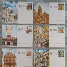 Postales: 8 TARJETAS POSTALES SIN CIRCULAR DE LA FÁBRICA NACIONAL DE MONEDA Y TIMBRE. Lote 255380810