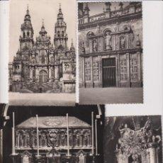 Postales: SANTIAGO DE COMPOSTELA. LOTE DE 5 FOTO-POSTALES. ¡IMPECABLES!. Lote 262682985