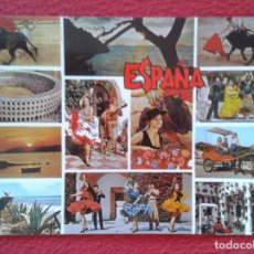 Postales: POST CARD ESPAÑA TÍPICA TOROS BAILE FLAMENCO TOREO PLAZA TOROS FLAMENCO BURROS DONKEYS..BULLFIGHTING. Lote 262781020