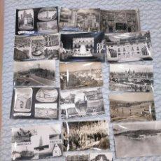 Postales: LOTE DE 17 POSTALES EN BLANCO Y NEGRO DEL AÑO 1960 DE DIFERENTES LUGARES DE ESPAÑA. Lote 263555070