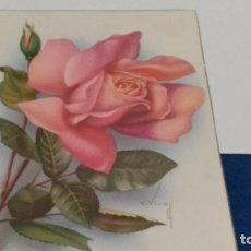 Postales: TARJETA POSTAL Nº 527/8 CY Z 1960 ( FLORALES, C. VIVES ). Lote 267773949