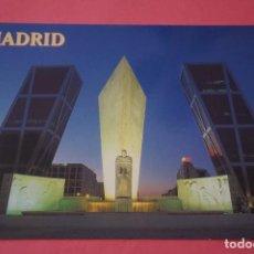 Postales: POSTAL SIN CIRCULAR DE MADRID PLAZA CASTILLA PUERTA DE EUROPA LOTE 35. Lote 268284729