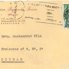 Postales: 1971 FELICITACIÓ ANIVERSARI SRTA MONTSERRAT VILA VILALTA (SEGUR PER ORIGEN) D´EN FRANCISCO FIGUEROLA. Lote 269378583