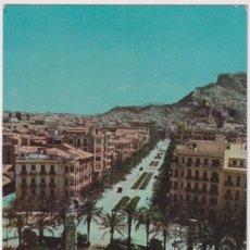 Postais: ALICANTE. PLAZA DE LOS LUCEROS. FRANQUEADO Y FECHADO EN 1963. Lote 269796333