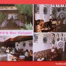Postales: POSTAL SIN CIRCULAR DE PEPE´S BAR CALYPSO MARBELLA MALAGA LOTE 39. Lote 269829638