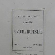 Postales: POSTALES PINTURA RUPESTRE ARTE PREHISTORICO ESPAÑA. Lote 270905773