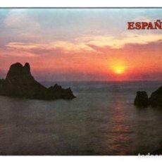 Postales: ESPAÑA - ATARDECER SOBRE EL MAR - CIRCULADA EN 1989. Lote 274645038