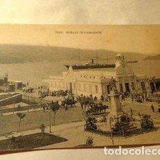 Postales: ESPANA VIGO MUELLE DE PASAJEROS FOTOTIPIA HAUSER MENET. Lote 277406433