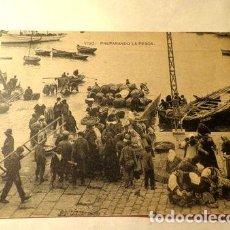 Postales: ESPANA VIGO PREPARANDO LA PESCA EDIT HAUSER Y MENET. Lote 277406628