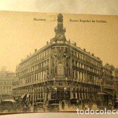 Postales: ESPANA MADRID BANCO ESPANOL DE CREDITO FOTOTIPIA J ROIG. Lote 277406643
