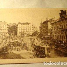 Postales: ESPANA TRANVIAS MADRID PUERTA DEL SOL HELIOTIPIA KALLMEY. Lote 277406913