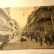 Postales: ESPANA TRANVIA VIGO CALLE DEL PRINCIPE FOTOTIPIA HAUSER. Lote 277408963