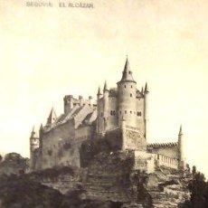 Postales: POSTAL EN BLANCO Y NEGRO DE SEGOVIA EL ALCAZAR. Lote 278856043