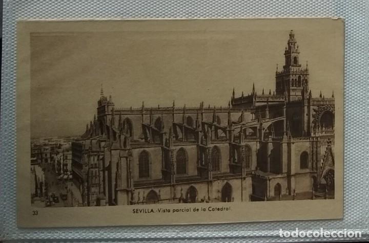 Postales: Lote de cuatro postales antiguas. Lonja Valencia, Sevilla, Cuevas Drach, Virgen Puente - Foto 2 - 286873893