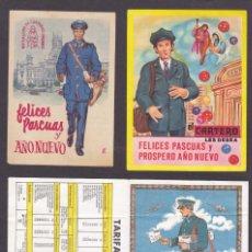 Postales: FELICITACIONES CARTERO, LA DE BORDES AMARILLOS TIENE EL TEXTO INVERTIDO.. Lote 288001838
