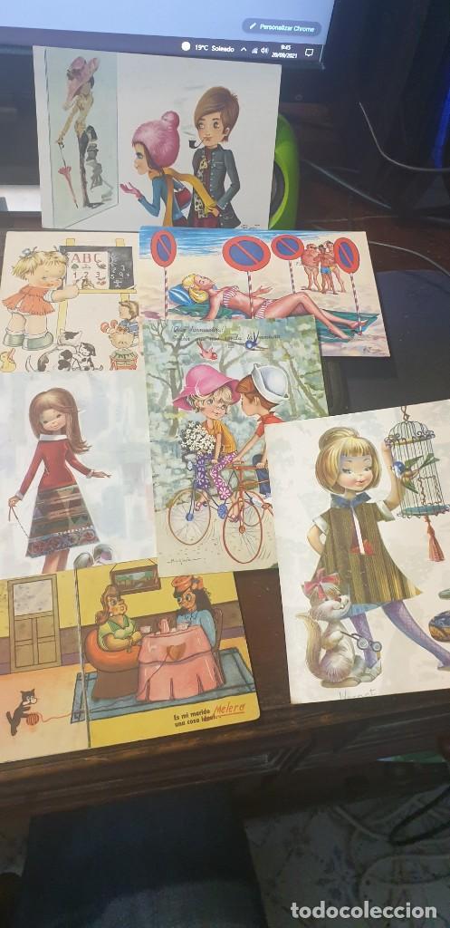 Postales: Lote de 14 postales románticas años 70 circuladas - Foto 2 - 288432838