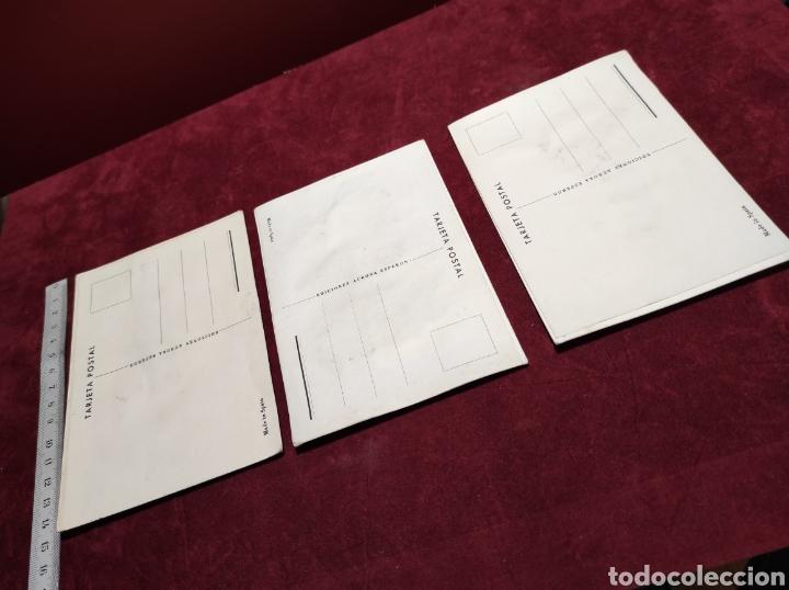 Postales: Postales bordadas lote de tres - Foto 5 - 288452273