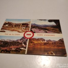 Postales: POSTAL VALLS DE ANDORRA ALTO CONTROL, PAS DE LA CASA. Lote 296043558