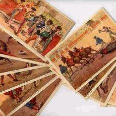 Postales: LOTE COLECCION DE 12 POSTALES TOROS ANTIGUAS SERIE COMPLETA ,RB. Lote 26065046