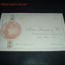 Postales: TARJETA DE FELICITACION DE AÑO NUEVO MODERNISTA,1925-1926. Lote 13510184