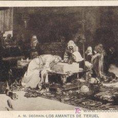 Postales: HAUSER Y MENET, A DGRAIN, LOS AMANTES DE TERUEL,. REVERSO SIN DIVIDIR.. Lote 15068075