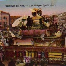 Postales: CARNAVAL. LES GUEPES (PETIT CHAR). CARNAVAL DE NICE. Lote 4884488