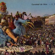 Postales: CARNAVAL. SA MAJESTÉ CARNAVAL. L. CARNAVAL DE NICE. Lote 4884501