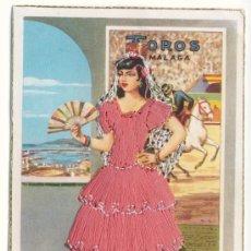 Postales: POSTAL BORDADA EN HILO - TOROS MALAGA - EDICIONES DOMINGUEZ. Lote 12699076