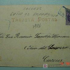Postales: 3789 CARTERIA GUIJO DE GRANADILLA CACERES - HAUSER Y MENET - MAS EN MI TIENDA COSAS&CURIOSA. Lote 15667231