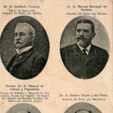 Postales: POSTAL SERIE SENADORES CARLISTAS CATALANES. Lote 8655794
