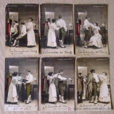 Postales: LOTE FOTO POSTAL ROMANTICA TAURINA 1907 SERIE COMPLETA 10 POSTALES UNICAS. Lote 14102270
