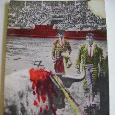 Postales: POSTALES ANTIGUAS DE ESPAÑA TAUROMAQUIA TOROS Y TOREROS PEPETE EN SAN SEBASTIAN. Lote 205126241