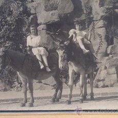 Postales: *POST 242 - POSTAL FOTOGRAFIA CIRCULADA - DOS NIÑAS CON BORRIQUITOS - POSTAL - FOTO. Lote 23073080