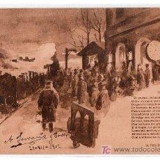 Postales: TARJETA POSTAL DE LA COLECCION EL TREN EXPRESO. I. SERIE 8. HAUSER Y MENET. Lote 12887497