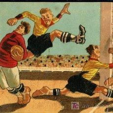 Cartes Postales: TARJETA POSTAL DE FUTBOL DIBUJADA POR F.M. SURROCA. Lote 13527234