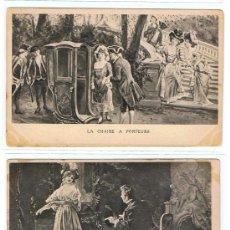 Postales: 5 POSTAL ES - DE LA MISMA SERIE - CIRCULADAS, SELLADAS, Y RESELLADAS, FECHADAS 1902, EXCEPCIONALES. Lote 26576676