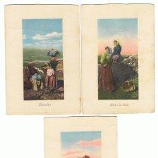 Postales: 3 POSTALES INTERESANTES, MUY ANTIGUAS, FECHADAS EN 1909, ESCASAS. VER FOTOS. Lote 26649111
