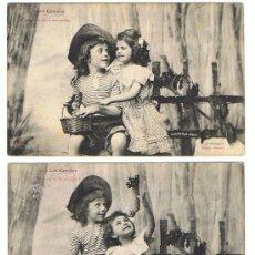 Postales: POSTALES DE NIÑOS CIRCULADAS, AÑO ENTRE 1905 Y 1920, VER FOTOS. Lote 22155536