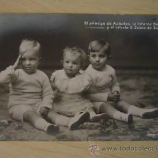 Postales: TARJETA POSTAL EL PRINCIPE DE ASTURIAS LA INFANTA BEATRIZ Y EL INFANTE DON JAIME FOTOGRAFIA FRANCEN . Lote 27370364