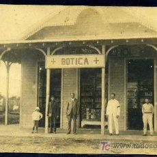 Postales: BOTICA (FARMACIA) - HACIA 1910 - MORON (CUBA) - FOTOGRAFICA - COSTUMBRISTA. Lote 27465242