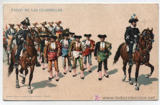 PASEO DE LAS CUADRILLAS. SONORA NEWW CO. Nº 700. ANTERIOR A 1906. (Postales - Postales Temáticas - Especiales)
